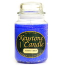 Keystone Candle J26-BChristmas 26 oz Blue Christmas Jar Candles