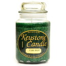 Keystone Candle J26-HolWreath 26 oz Holiday Wreath Jar Candles