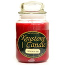 Keystone Candle J26-MisHolly 26 oz Mistletoe and Holly Jar Candles
