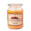 Keystone Candle J26-OTwist 26 oz Orange Twist Jar Candles