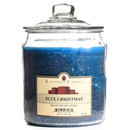 Keystone Candle J64-BChristmas 64 oz Blue Christmas Jar Candles