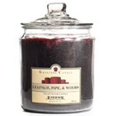 Keystone Candle J64-LPW 64 oz Leather, Pipe, and Woods Jar Candles