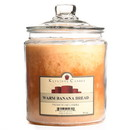 Keystone Candle J64-WBB 64 oz Warm Banana Bread Jar Candles