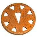 Keystone Candle JCap-RustHeart Jar Caps Rust Heart