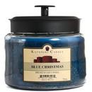 Keystone Candle M64-BChristmas 70 oz Montana Jar Candles Blue Christmas