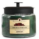 Keystone Candle M64-HolWreath 70 oz Montana Jar Candles Holiday Wreath