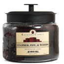 Keystone Candle M64-LPW 70 oz Montana Jar Candles Leather, Pipe, and Woods