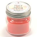 Keystone Candle Mas-HPT-JucPeach Half Pint Mason Jar Candle Juicy Peach