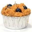 Keystone Candle Muf-Blueb Muffin Shaped Candle Blueberry