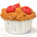 Keystone Candle Muf-Cherry Muffin Shaped Candle Cherry