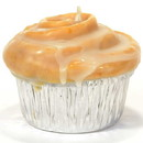 Keystone Candle Muf-CinBun Muffin Shaped Candle Cinnamon Bun