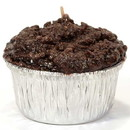 Keystone Candle Muf-DoubChFg Muffin Shaped Candle Double Chocolate Fudge