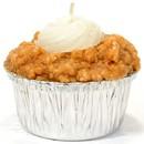 Keystone Candle Muf-PumpCrCh Muffin Shaped Candle Pumpkin Cream Cheese