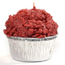 Keystone Candle Muf-RedVCk Muffin Shaped Candle Red Velvet Cake