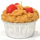 Keystone Candle Muf-Straw Muffin Shaped Candle Strawberry