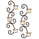 Keystone Candle POM915062 Set of 2 Classic Wall Sconces