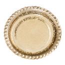 Keystone Candle QC-9056 Gold Beaded Pillar Plates 5 Inch