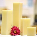Keystone Candle SQ333-Ivory Ivory Square Candles 3 Inch