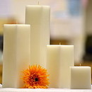 Keystone Candle SQ336-White White Square Candles 6 Inch