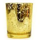 Keystone Candle StrSid-SpecGold Straight Votive Cup Speckled Gold