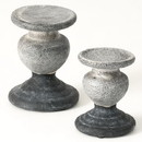 Keystone Candle Sul-cm2880 Two Tone Gray Candle Holder Set of 2