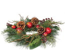Keystone Candle Sul-cp536 Pine and Pomegranate Candle Rings 4.5 Inch