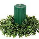 Keystone Candle Sul-crbx4 Boxwood 4 Inch Candle Rings