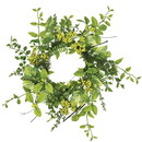 Keystone Candle Sul-fber6 Foliage and Berry Candle Ring 6.5 Inch