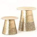 Keystone Candle Sul-met1504 Gold Metal Candle Holder Set of 2