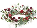 Keystone Candle Sul-pbb6 Pine Berry Bells Candle Rings 6.5 Inch