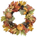Keystone Candle Sul-pgp6 Pumpkin Gourd Pod Candle Ring 6.5 Inch
