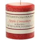 Keystone Candle Tex3x3-AppCinn Textured 3x3 Apple Cinnamon Pillar Candles