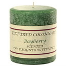 Keystone Candle Tex3x3-Bay Textured 3x3 Bayberry Pillar Candles