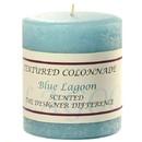 Keystone Candle Tex3x3-BlLag Textured 3x3 Blue Lagoon Pillar Candles