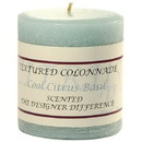 Keystone Candle Tex3x3-CCB Textured 3x3 Cool Citrus Basil Pillar Candles