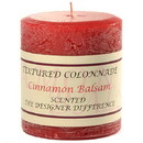 Keystone Candle Tex3x3-CinnBals Textured 3x3 Cinnamon Balsam Pillar Candles