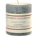 Keystone Candle Tex3x3-ClCotton Textured 3x3 Clean Cotton Pillar Candles
