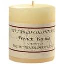 Keystone Candle Tex3x3-FrVan Textured 3x3 French Vanilla Pillar Candles