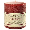Keystone Candle Tex3x3-Mulb Textured 3x3 Mulberry Pillar Candles