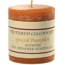 Keystone Candle Tex3x3-Pumpk Textured 3x3 Spiced Pumpkin Pillar Candles