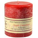 Keystone Candle Tex4x4-AppCinn Textured 4x4 Apple Cinnamon Pillar Candles