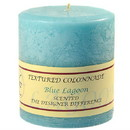 Keystone Candle Tex4x4-BlLag Textured 4x4 Blue Lagoon Pillar Candles