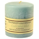 Keystone Candle Tex4x4-CCB Textured 4x4 Cool Citrus Basil Pillar Candles