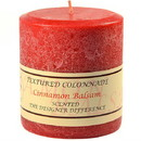 Keystone Candle Tex4x4-CinnBals Textured 4x4 Cinnamon Balsam Pillar Candles