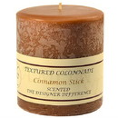 Keystone Candle Tex4x4-CinnStick Textured 4x4 Cinnamon Stick Pillar Candles