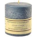 Keystone Candle Tex4x4-ClCotton Textured 4x4 Clean Cotton Pillar Candles