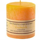 Keystone Candle Tex4x4-Creams Textured 4x4 Creamsicle Pillar Candles