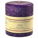 Keystone Candle Tex4x4-Lilac Textured 4x4 Lilac Pillar Candles