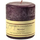 Keystone Candle Tex4x4-Merlot Textured 4x4 Merlot Pillar Candles