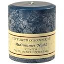 Keystone Candle Tex4x4-MSN Textured 4x4 Midsummer Night Pillar Candles